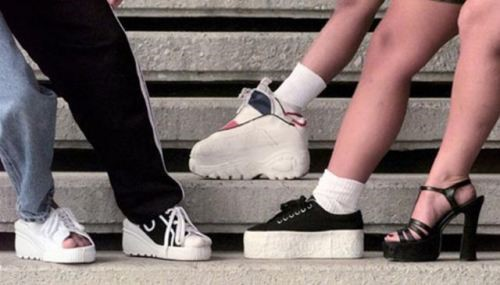 platforms Nod to the 90's During Fashion Week