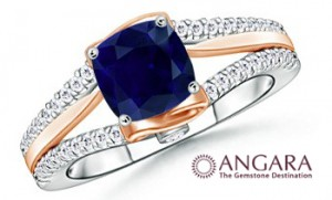 Sapphire+and+Diamond+WOW+Engagement+Ring 300x181 Five non diamond engagement ring options