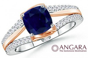 Sapphire+and+Diamond+WOW+Engagement+Ring